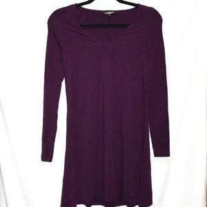 Express Tunic Dress Size XS Eggplant Purple
